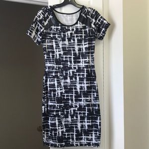 Black and white ldress